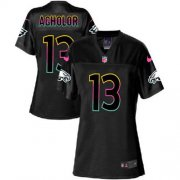 Wholesale Cheap Nike Eagles #13 Nelson Agholor Black Women's NFL Fashion Game Jersey