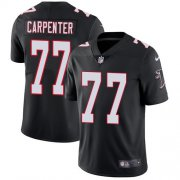 Wholesale Cheap Nike Falcons #77 James Carpenter Black Alternate Men's Stitched NFL Vapor Untouchable Limited Jersey