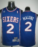 Wholesale Cheap Philadelphia 76ers #2 Moses Malone Blue Swingman Throwback Jersey