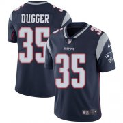 Wholesale Cheap Nike Patriots #35 Kyle Dugger Navy Blue Team Color Youth Stitched NFL Vapor Untouchable Limited Jersey