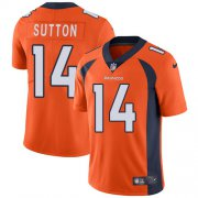Wholesale Cheap Nike Broncos #14 Courtland Sutton Orange Team Color Men's Stitched NFL Vapor Untouchable Limited Jersey
