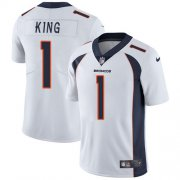 Wholesale Cheap Nike Broncos #1 Marquette King White Men's Stitched NFL Vapor Untouchable Limited Jersey