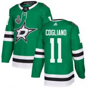 Wholesale Cheap Adidas Stars #11 Andrew Cogliano Green Home Authentic 2020 Stanley Cup Final Stitched NHL Jersey
