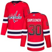 Wholesale Cheap Adidas Capitals #30 Ilya Samsonov Red Home Authentic Drift Fashion Stitched NHL Jersey
