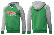 Wholesale Cheap Philadelphia Phillies Pullover Hoodie Green & Grey