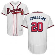 Wholesale Cheap Braves #20 Josh Donaldson White Flexbase Authentic Collection Stitched MLB Jersey