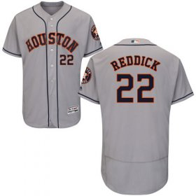 Wholesale Cheap Astros #22 Josh Reddick Grey Flexbase Authentic Collection Stitched MLB Jersey