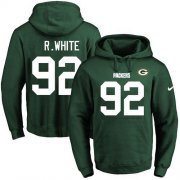 Wholesale Cheap Nike Packers #92 Reggie White Green Name & Number Pullover NFL Hoodie