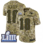 Wholesale Cheap Nike Patriots #18 Matt Slater Camo Super Bowl LIII Bound Men's Stitched NFL Limited 2018 Salute To Service Jersey