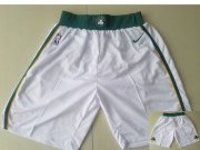 Wholesale Cheap Men's Boston Celtics White Nike NBA Shorts