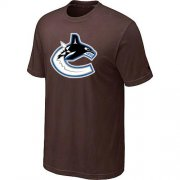 Wholesale Cheap Vancouver Canucks Big & Tall Logo Brown NHL T-Shirt