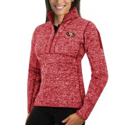 Wholesale Cheap Calgary Flames Antigua Women's Fortune 1/2-Zip Pullover Sweater Purple