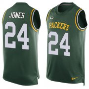 Wholesale Cheap Nike Packers #24 Josh Jones Green Team Color Men's Stitched NFL Limited Tank Top Jersey