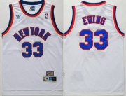 Wholesale Cheap Men's New York Knicks #33 Patrick Ewing White Hardwood Classics Soul Swingman Throwback Jersey