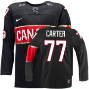 Wholesale Cheap Olympic 2014 CA. #77 Jeff Carter Black Stitched NHL Jersey