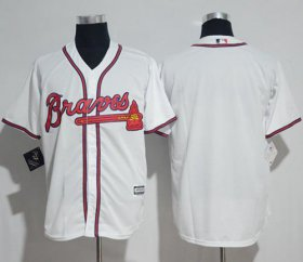 Wholesale Cheap Braves Blank White New Cool Base Stitched MLB Jersey