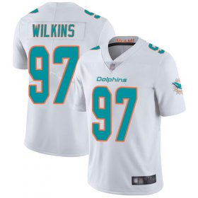 Wholesale Cheap Nike Dolphins #97 Christian Wilkins White Men\'s Stitched NFL Vapor Untouchable Limited Jersey
