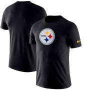 Wholesale Cheap Pittsburgh Steelers Nike Essential Logo Dri-FIT Cotton T-Shirt Black