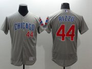 Wholesale Cheap Cubs #44 Anthony Rizzo Grey Flexbase Authentic Collection Road Stitched MLB Jersey