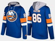 Wholesale Cheap Islanders #86 Nikolay Kulemin Blue Name And Number Hoodie