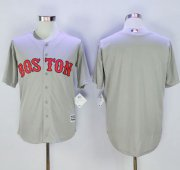 Wholesale Cheap Red Sox Blank Grey New Cool Base Stitched MLB Jersey