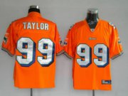 Wholesale Cheap Dolphins Jason Taylor #99 Orange Stitched NFL Jersey