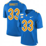 Wholesale Cheap Pittsburgh Panthers 33 Tony Dorsett Blue 150th Anniversary Patch Nike College Football Jersey