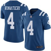 Wholesale Cheap Nike Colts #4 Adam Vinatieri Royal Blue Youth Stitched NFL Limited Rush Jersey