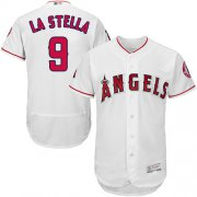 Wholesale Cheap Angels of Anaheim #9 Tommy La Stella White Flexbase Authentic Collection Stitched MLB Jersey