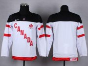 Wholesale Cheap Team Canada Blank White 100th Anniversary Stitched Youth NHL Jersey