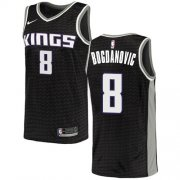 Wholesale Cheap Women's Sacramento Kings #8 Bogdan Bogdanovic Black Basketball Swingman Statement Edition Jersey
