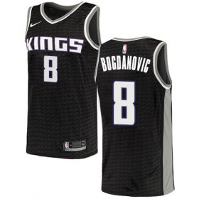 Wholesale Cheap Women\'s Sacramento Kings #8 Bogdan Bogdanovic Black Basketball Swingman Statement Edition Jersey