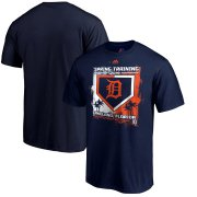 Wholesale Cheap Detroit Tigers Majestic 2019 Spring Training Base On Ball T-Shirt Navy
