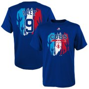 Wholesale Cheap Chicago Cubs #9 Javier Baez Majestic Youth 2019 Spring Training Name & Number V-Neck T-Shirt Royal