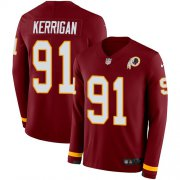 Wholesale Cheap Nike Redskins #91 Ryan Kerrigan Burgundy Red Team Color Men's Stitched NFL Limited Therma Long Sleeve Jersey
