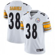 Wholesale Cheap Nike Steelers #38 Jaylen Samuels White Men's Stitched NFL Vapor Untouchable Elite Jersey
