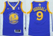 Cheap Youth Golden State Warriors #9 Andre Iguodala Blue NBA Adidas Jersey