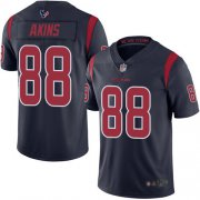 Wholesale Cheap Nike Texans #88 Jordan Akins Navy Blue Men's Stitched NFL Limited Rush Jersey