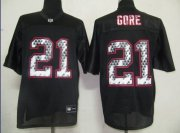 Wholesale Cheap Sideline Black United 49ers #21 Frank Gore Black Stitched NFL Jersey