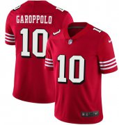 Wholesale Cheap Nike 49ers #10 Jimmy Garoppolo Red Team Color Men's Stitched NFL Vapor Untouchable Limited II Jersey