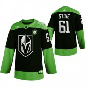 Wholesale Cheap Vegas Golden Knights #61 Mark Stone Men's Adidas Green Hockey Fight nCoV Limited NHL Jersey