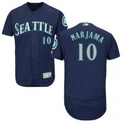 Wholesale Cheap Mariners #10 Mike Marjama Navy Blue Flexbase Authentic Collection Stitched MLB Jersey