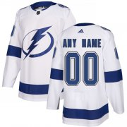 Wholesale Cheap Men's Adidas Lightning Personalized Authentic White Road NHL Jersey