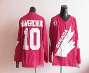 Wholesale Cheap Olympic 1991 CA. #10 Dale Hawerchuk Red CCM Throwback Stitched NHL Jersey
