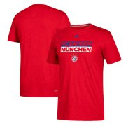 Wholesale Cheap Bayern Munich adidas Box Go-To Performance T-Shirt Red