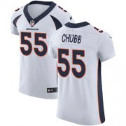 Wholesale Cheap Nike Broncos #55 Bradley Chubb White Men's Stitched NFL Vapor Untouchable Elite Jersey