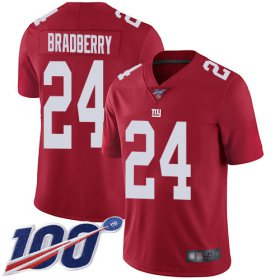 Wholesale Cheap Nike Giants #24 James Bradberry Red Youth Stitched NFL Limited Inverted Legend 100th Season Jersey