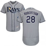 Wholesale Cheap Rays #28 Daniel Robertson Grey Flexbase Authentic Collection Stitched MLB Jersey