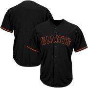 Wholesale Cheap San Francisco Giants Majestic Big & Tall Pop Fashion V-Neck Jersey Black
