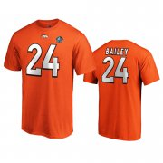 Wholesale Cheap Denver Broncos #24 Champ Bailey Orange 2019 Hall Of Fame NFL T-Shirt